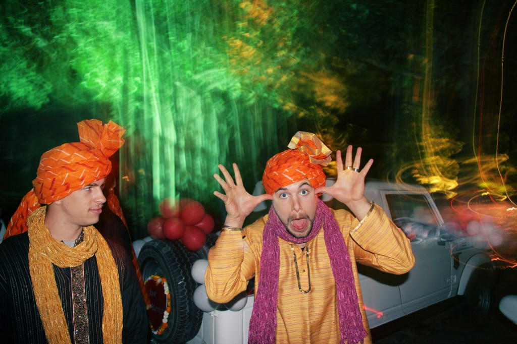 Being a goof at a wedding in India